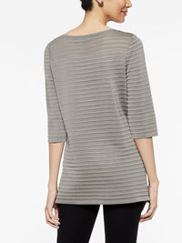 Ribbed Tunic Color Mink Grey