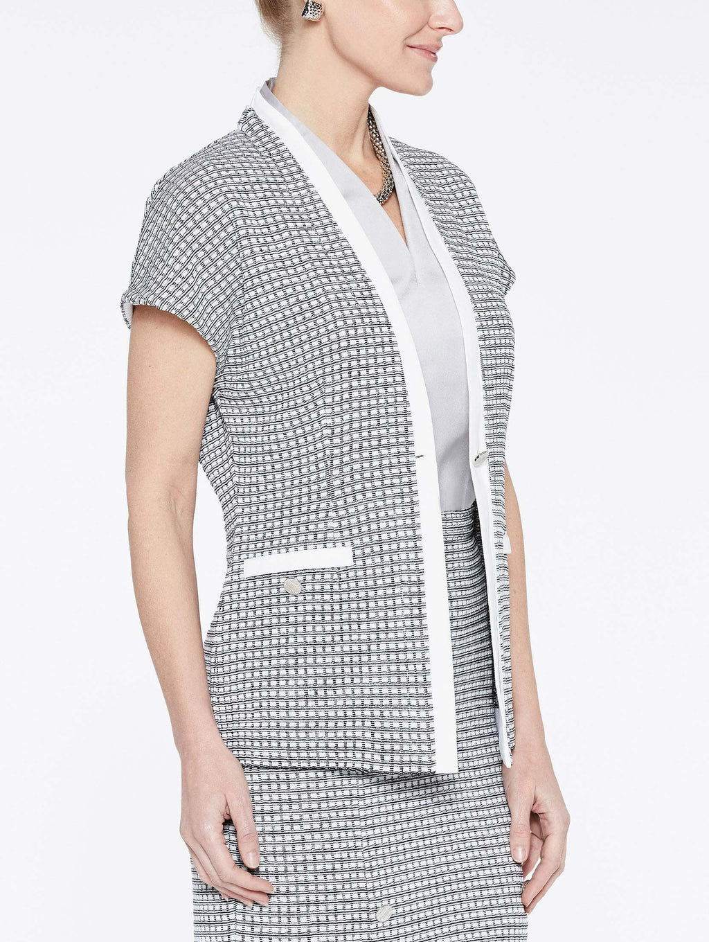Mini Square Pattern Jacket