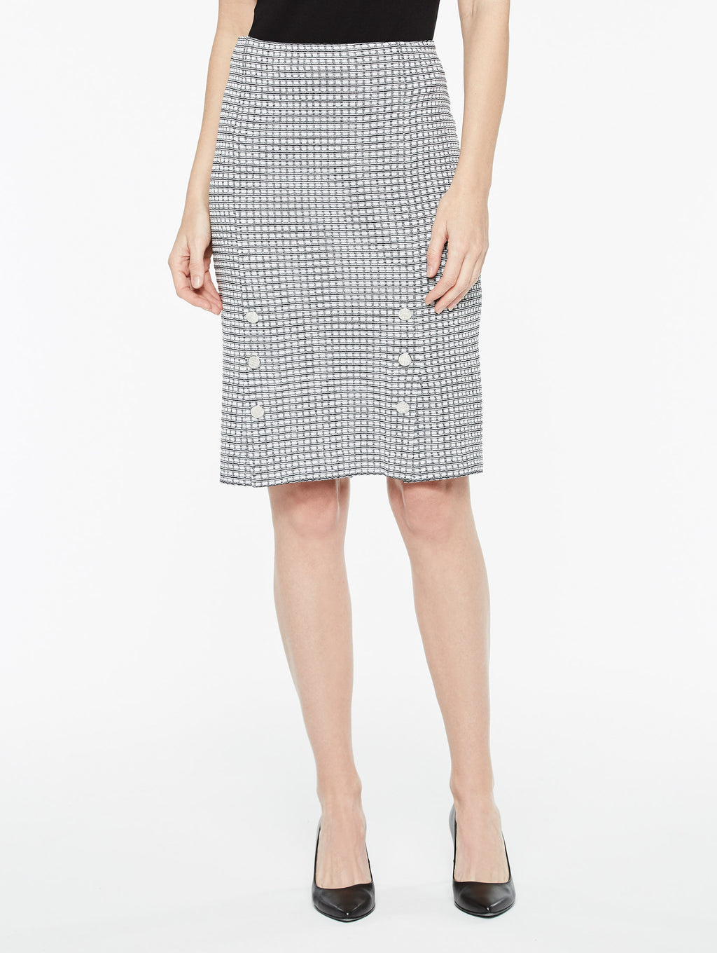 Mini Square Pattern Skirt