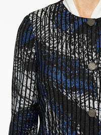 Abstract Pattern with Pinstripe Jacket Color Venetian Blue/Black/Marble Premium Detail