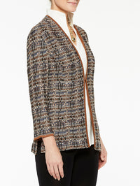 Multi Tweed Jacket Color Sierra/Biscotti/Venetian Blue/Ivory
