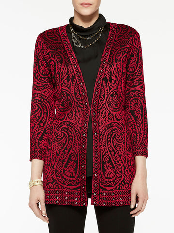 Paisley and Stud Trim Jacket