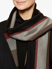 Doubleknit Jacket and Scarf Color Black/Crimson Red/Mink Grey/Hickory Brown Premium Details
