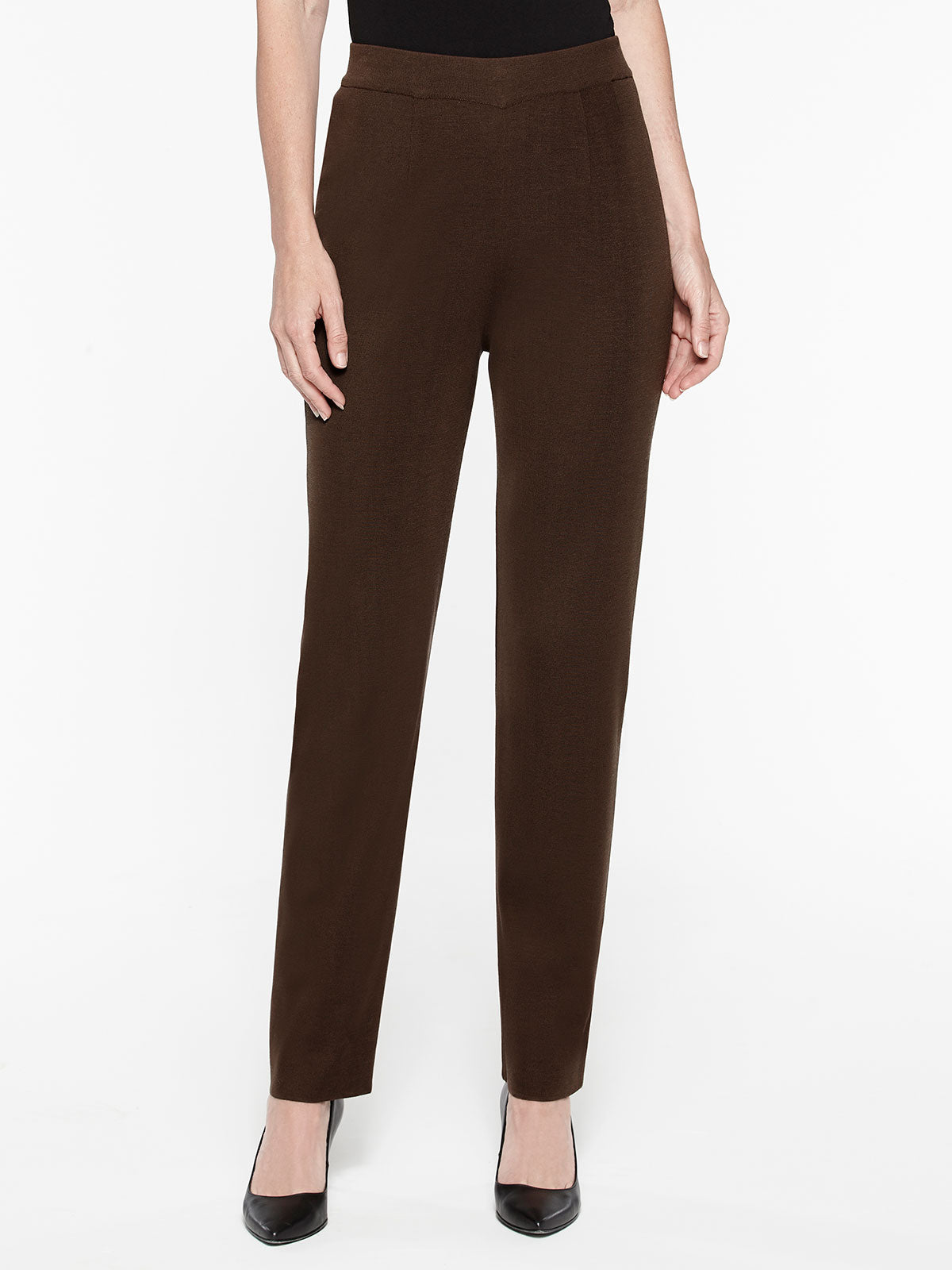 Plus Size Hickory Straight Leg Pant Color Hickory Brown
