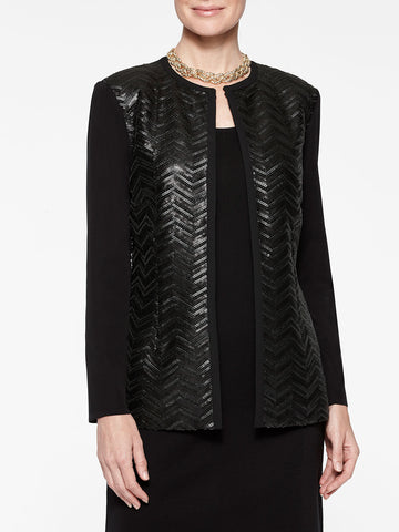 Leather Sequin Jacket