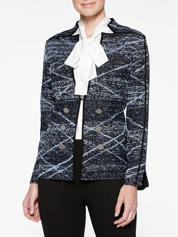 Directional Jacquard Knit Jacket