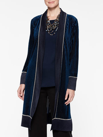 Velvet Ribbed Duster