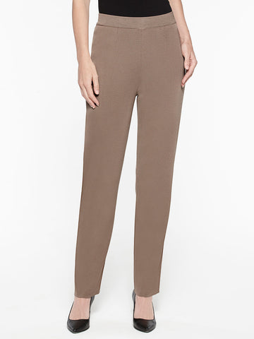 Plus Size Straight Leg Knit Pant, Macchiato Brown