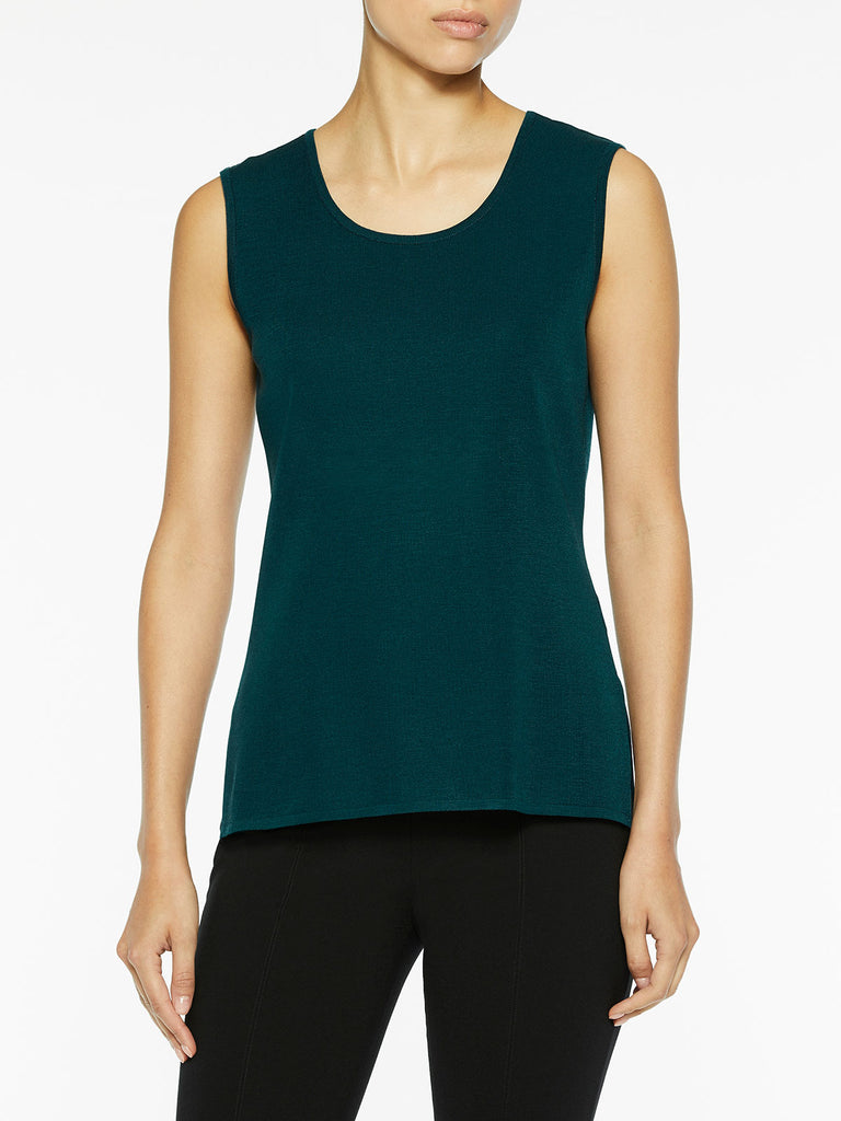 Plus Size Classic Knit Tank Top, Deep Teal