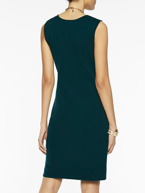 Sleeveless Sheath Knit Dress, Deep Teal – Misook