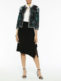 Mixed Media Floral Print Jacket