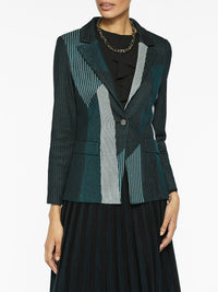 Color Play Pinstripe Knit Blazer