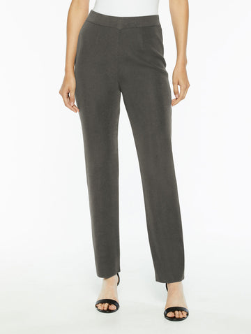 Plus Size Straight Leg Knit Pant, Slate Grey