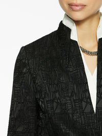 Satin and Velvet Dimensional Blazer