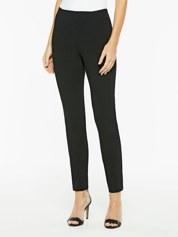 Pull-On Lightweight Ponte Pant, Color Black