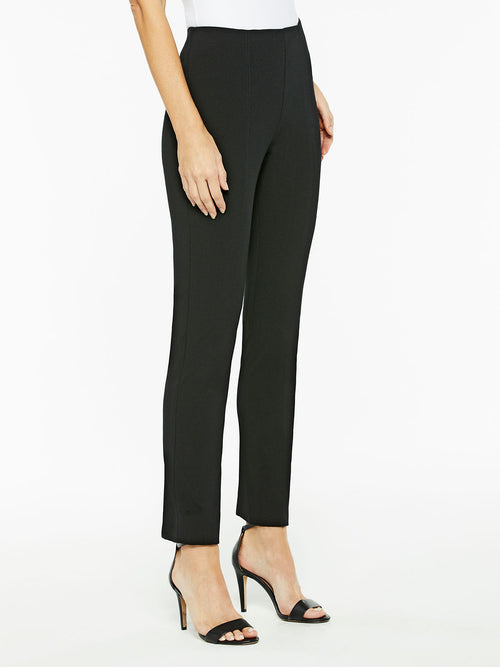 Pull-On Lightweight Ponte Pant, Color Black Premium Details