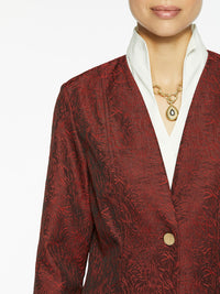 Wispy Pattern Woven Jacket Color Blood Orange/Black Premium Details