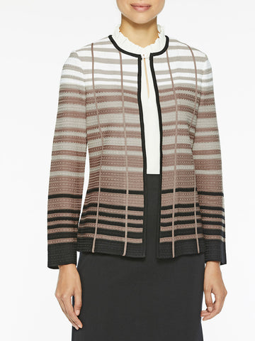 Graduated Stripe Knit Jacket