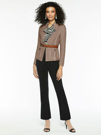 Modern Dimensional Knit Jacket Color Macchiato
