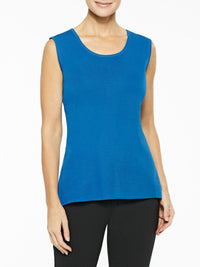 Plus Size Classic Knit Tank Top, Color Harbor Blue