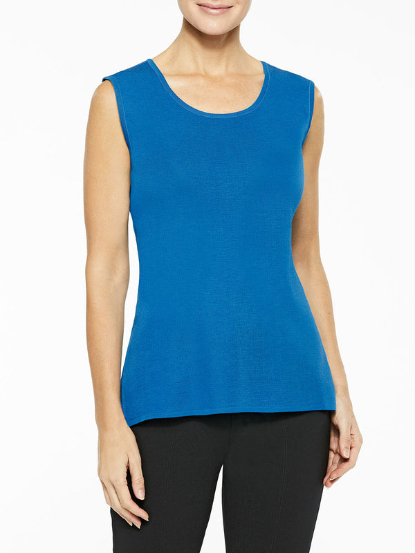 Classic Knit Tank Top, Color Harbor Blue
