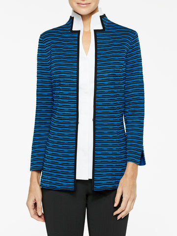 Textured Wave Knit Jacket