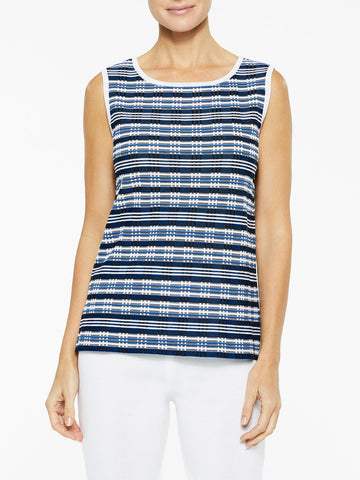 Digital Pattern Classic Knit Tank Top