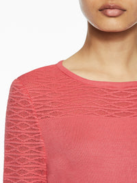 Textured Yoke Knit Tunic