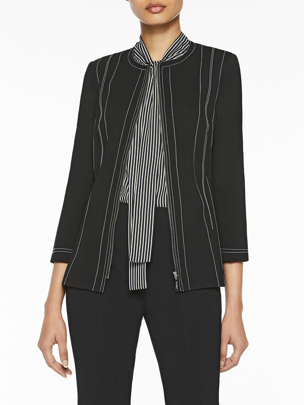 Zip-Up Lightweight Ponte Jacket