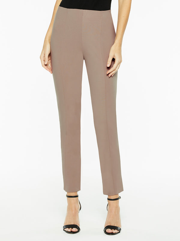 Pull-On Lightweight Ponte Pant, Macchiato