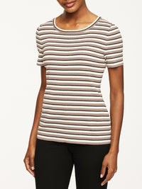 Striped Knit T-Shirt