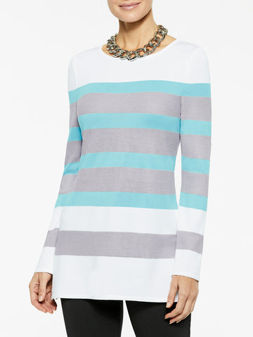 Bold Stripe Knit Tunic