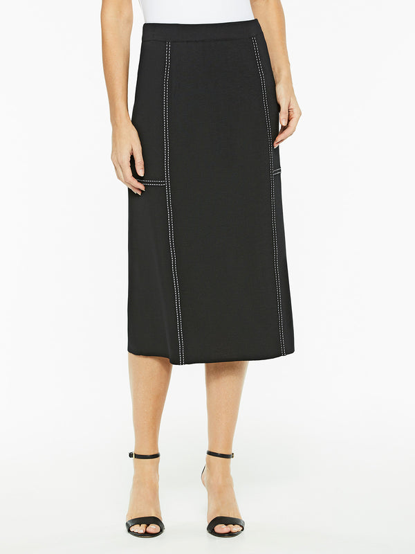 Dash Trim Flat Knit Skirt