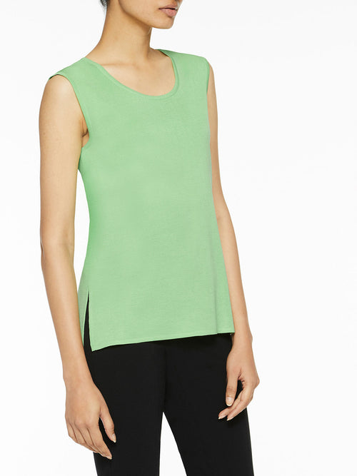 Plus Size Classic Knit Tank Top, Spring Green – Misook