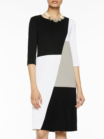 Petite Colorblock Sheath Knit Dress