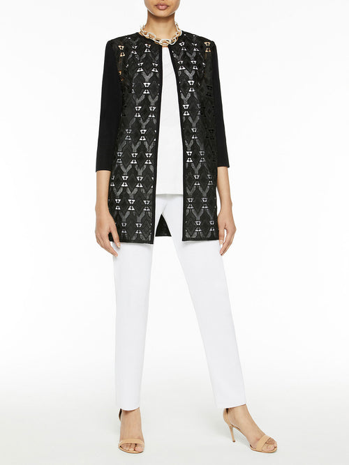 Lace Bodice and Knit Jacket – Misook