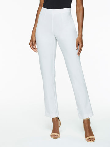 Pull-On Stretch Techno Pant, White
