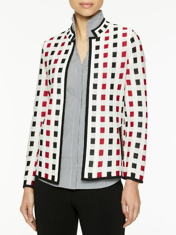 Square Jacquard Knit Jacket