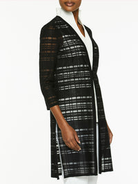 Sheer Grid Knit Duster