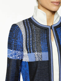 Artisan Plaid Jacquard Knit Jacket