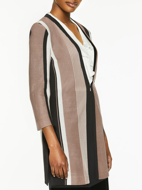Bold Stripe Easy Knit Jacket