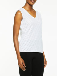 Directional Burnout Knit Tank Top