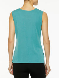 Classic Knit Tank Top, Forest Green-Misook