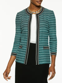 Double Dash Trim Knit Jacket