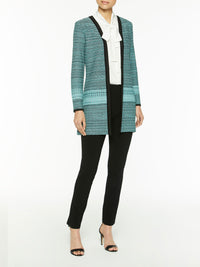 Sparkle Trim Tweed Duster