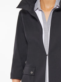 Ruffle Neck Seasonless Ponte Jacket – Premium Detail – Misook