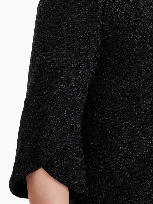 Sparkle Petal Sleeve Jacket Color Black Premium Detail