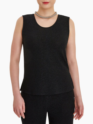 Plus Size Sparkle Scoop Neck Tank Top