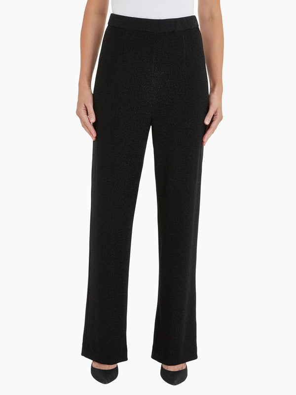 Sparkle Pull-On Wide Leg Pant Color Black