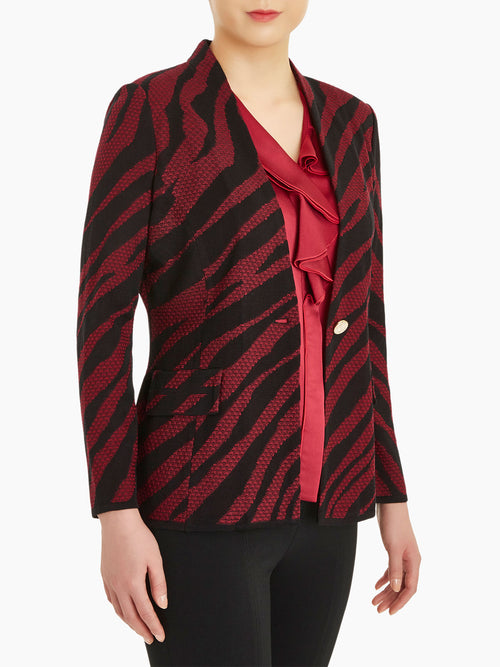 Tiger Stripe Knit Blazer – Misook